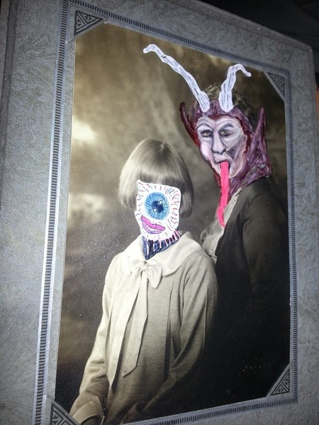 Krampus and Eyeball Girl