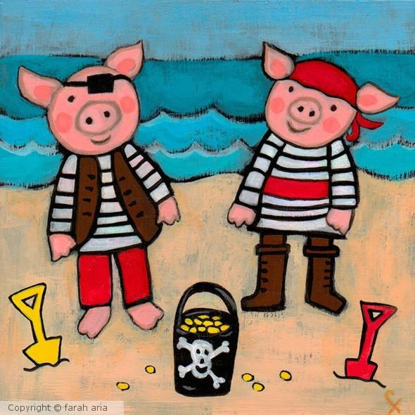 Pirate Piggies by Farah Aria