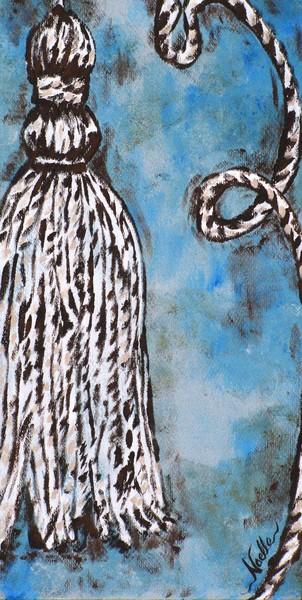 Tassel on blue