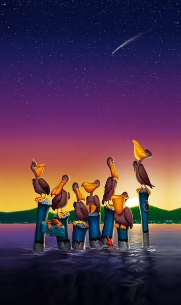 pelicans-on-poles-vertical-FAA