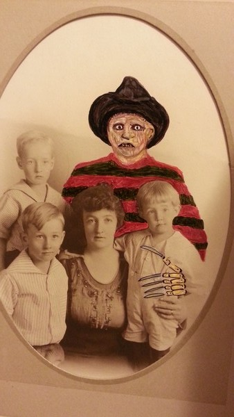 Freddy Krueger altered photograph