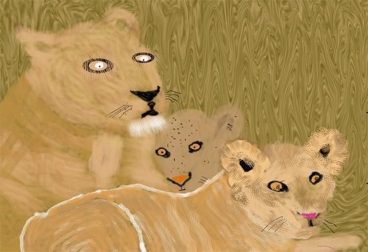 Lion Family  (O814)
