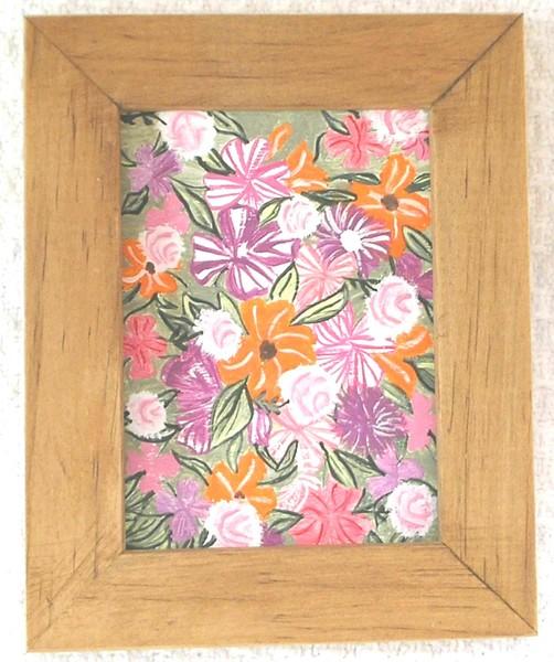 Original Bold Flowers Mini Painting