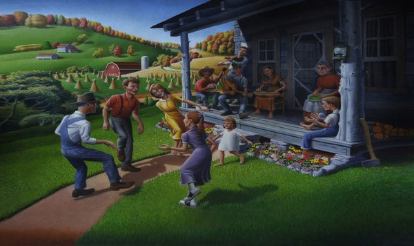 Porch Music And Folk Dancing - Phone Case Art