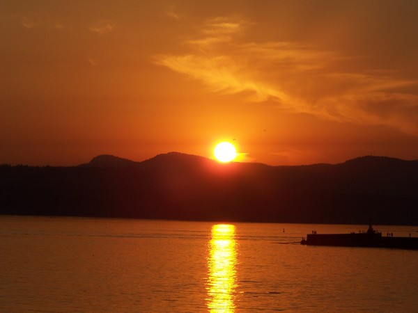 sun set at the sea wall #3
