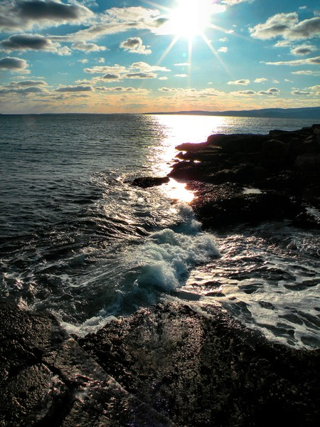 Low Sun at Schoodic