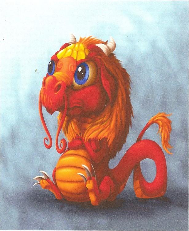 Sad little dragon