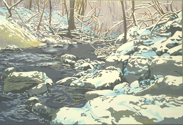 Snowscape #5 - sold