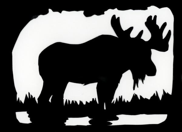 Scherenschnitte Moose Card