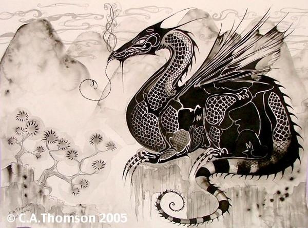 Oriental Gothic Dragon