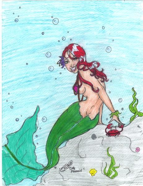 Little mermaid in the sea