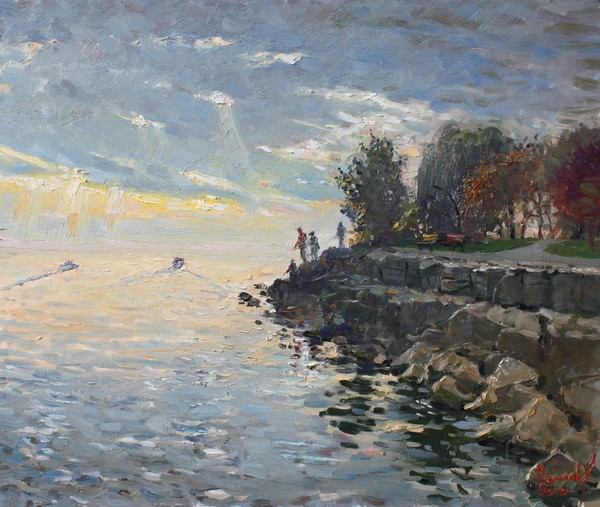 Sunrise fishing 20x24