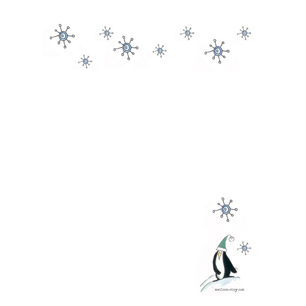 Snowflakies and Penguin Stationery
