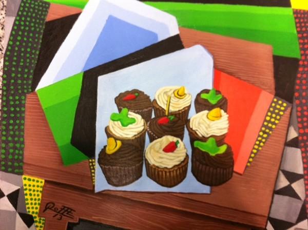CHOCOLATE,VANILA CUP CAKES