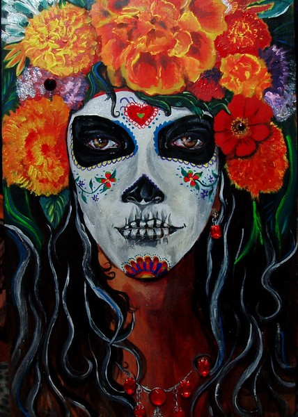 Day of the Dead original art. Catrina of the mairg