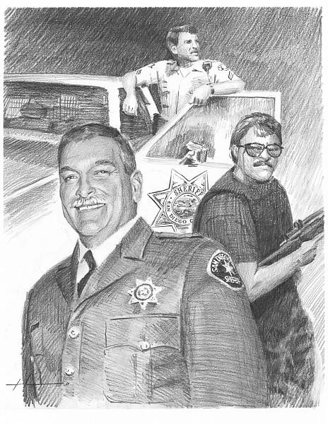 san diego sheriff pencil portrait