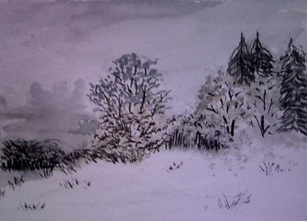 Snowy Day at Lake Symington