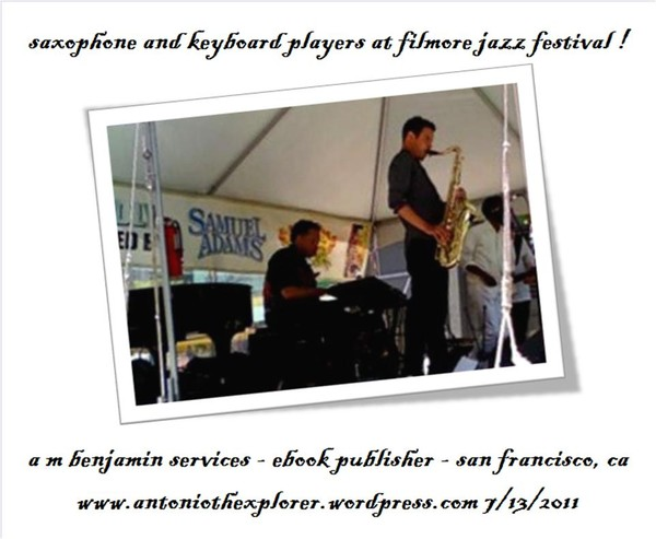 horn n keyboard player at jazz festival