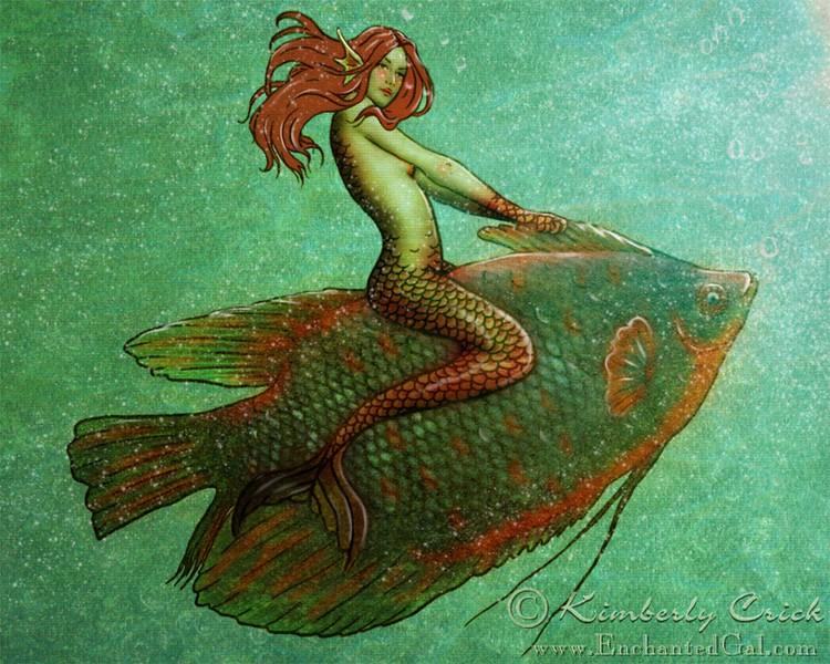 A Mermaid's transportation