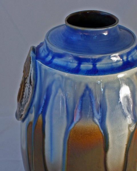 Vase with Fused Glass