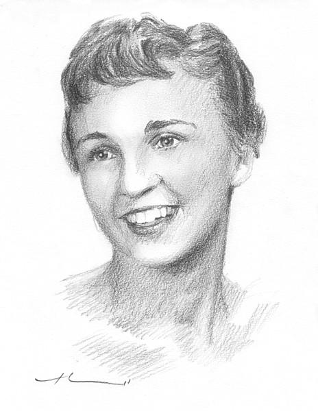 starlett pencil portrait