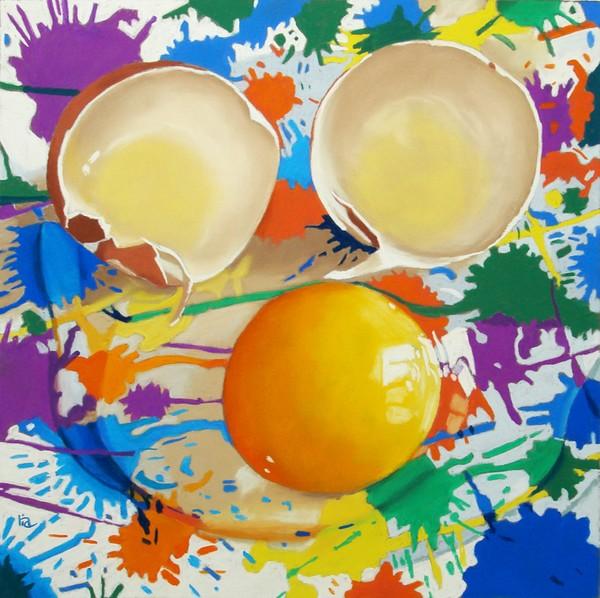 Splatter Paint and an Egg
