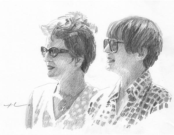 sunglasses drawing