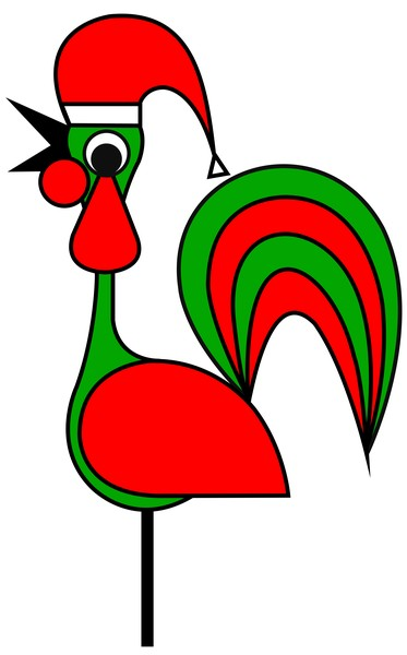 The Portoguise Rooster son of Santa Claus wishes you a Happy Chrismas