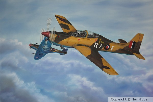 RAF Tucano Donation Painting WIP