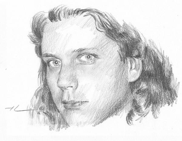 young man pencil portrait