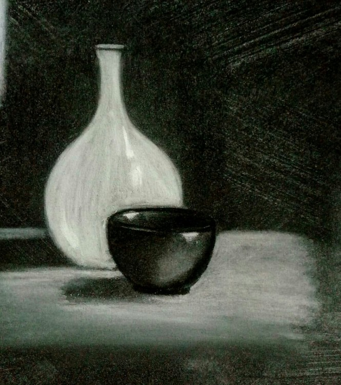 Tone and charcoal study