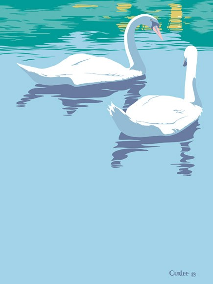 Two Swans Acrylic Painting