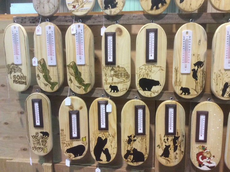 Custom Wood Burn Thermometers