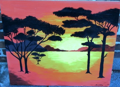 Sunset in the savannah