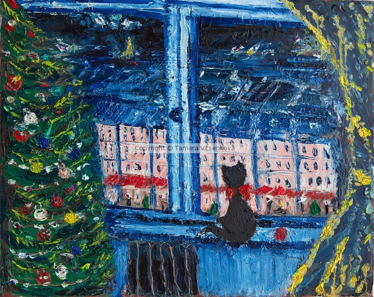 Christmas window in Paris