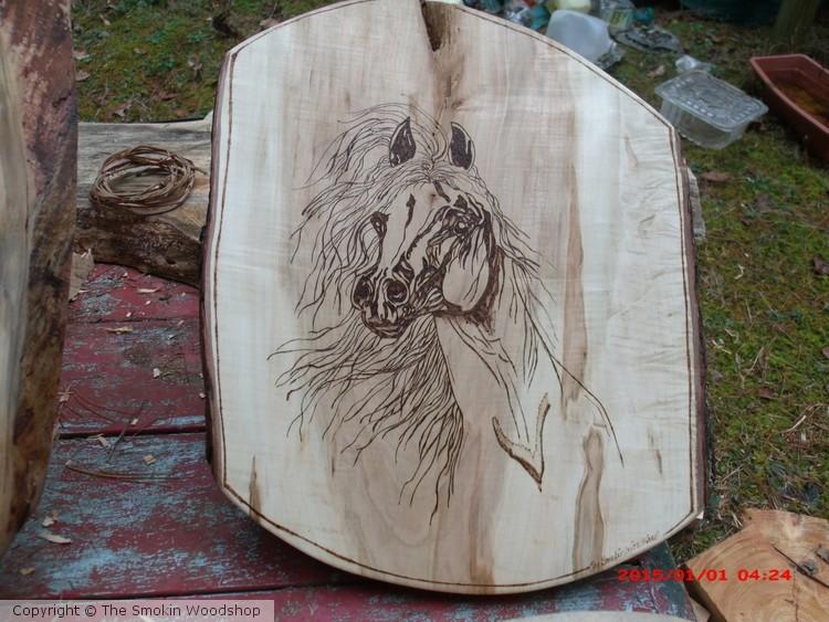 Custom Wood Burn Horse