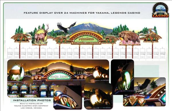Feature Display Designed for Yakama Legends Casino