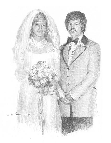 wedding couple drawing