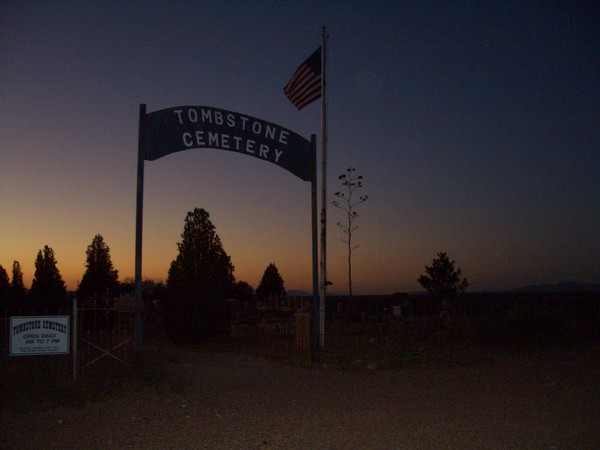sunset at tombstone