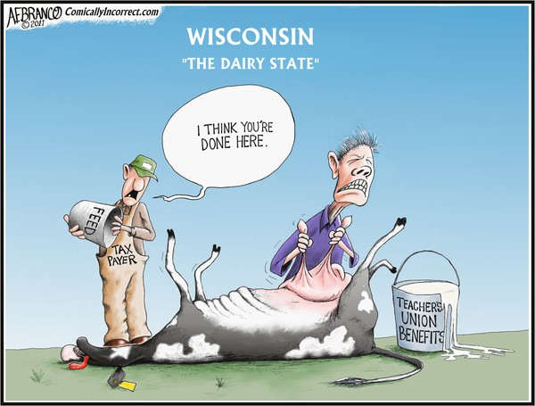 The Dairy State Milked Dry (Cartoon)