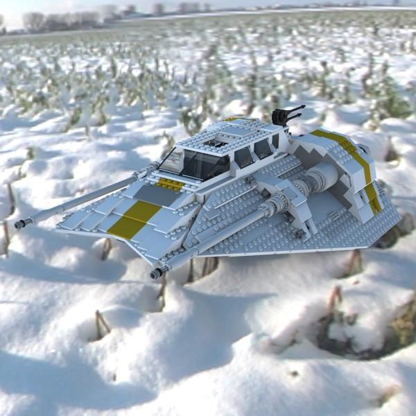 Brick Snowspeeder 10129 2