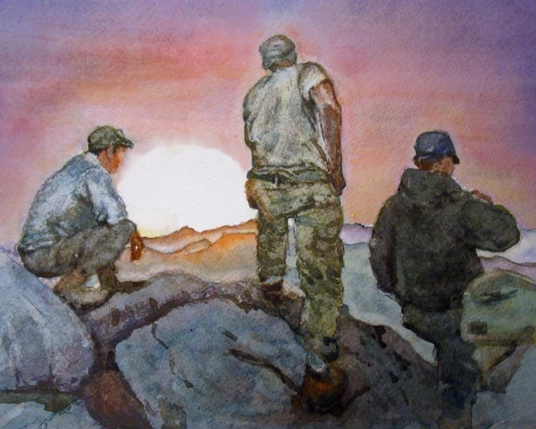 Soldier Series:  A Moment to Breathe