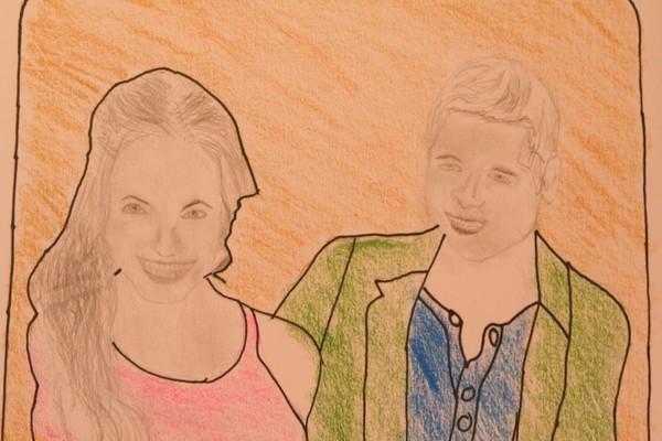 Angelina and Brad Detail
