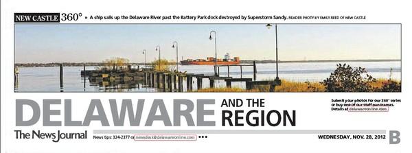 82nd News Journal Panorama-Ship & Ruined Dock