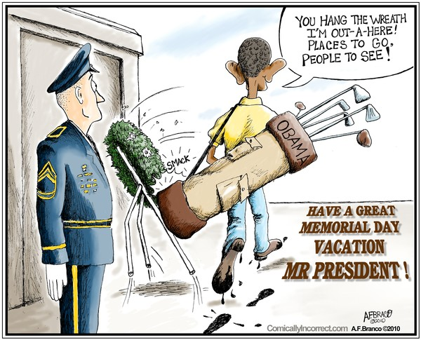 Obama's Memorial Day (Cartoon)