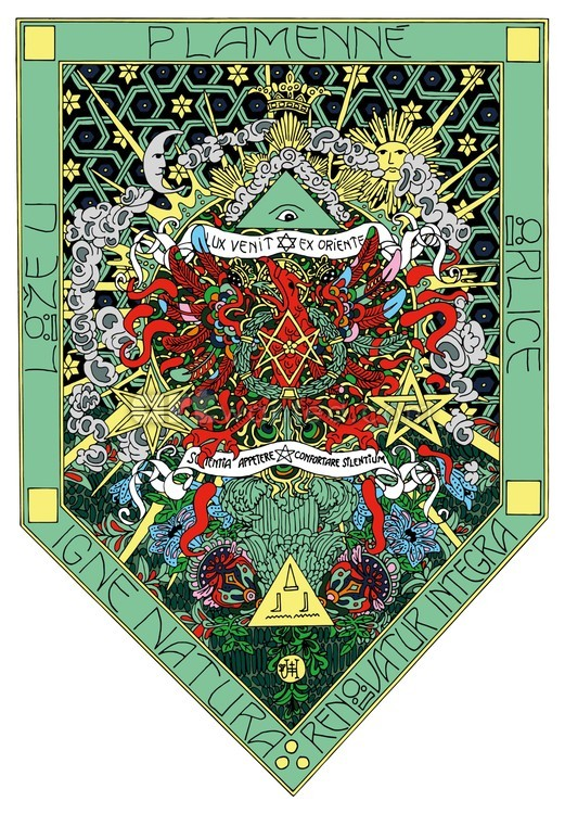 The flag of The thelemic lodge at flamming eagle