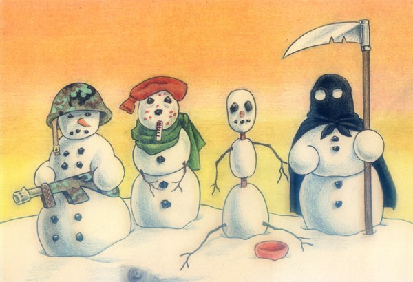 Four Snowmen of the Apocalypse