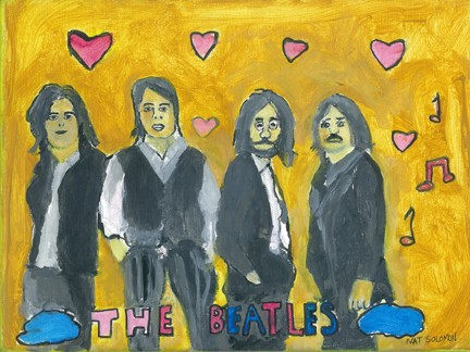 The Beatles Original painting Acrylic on canvas9 x
