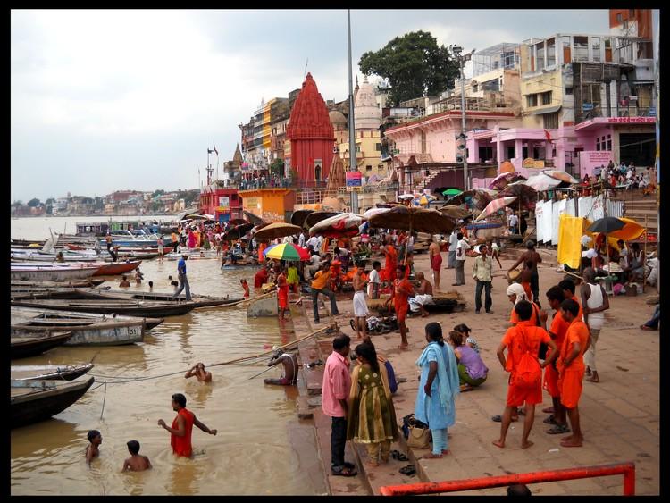 Bathing scene at Ganges ..Varanasi