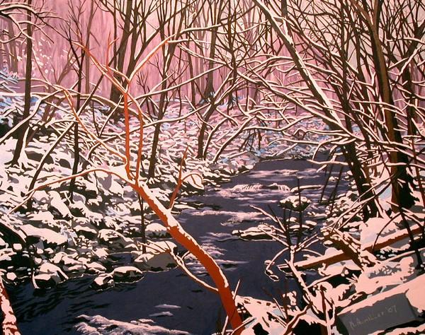 Snowscape #6 - sold
